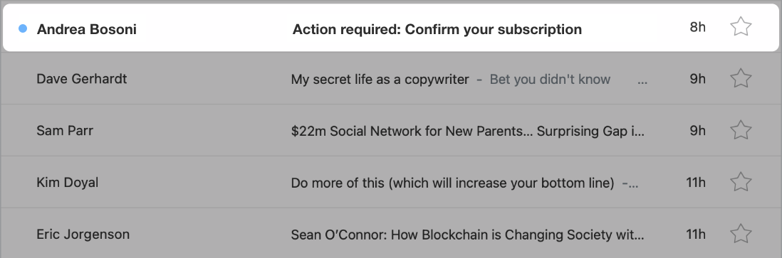 """Add """"Action required"""" to confirmation email subject lines"""